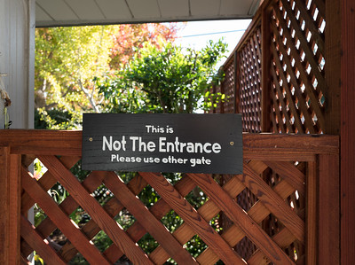Not the entrance