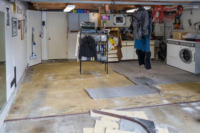 Garage carpet almost gone