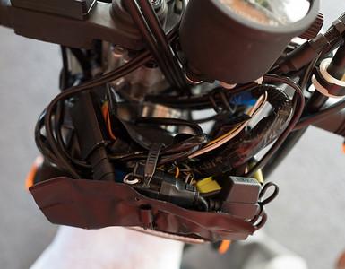 Inside wiring bundle