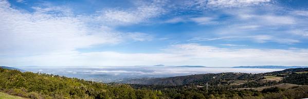 Overlooking the valley