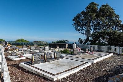 Raukokere Church cemetery, Bay of Plenty, East Cape, New Zealand