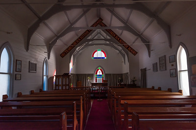 Raukokere Church inside, Bay of Plenty, East Cape, New Zealand