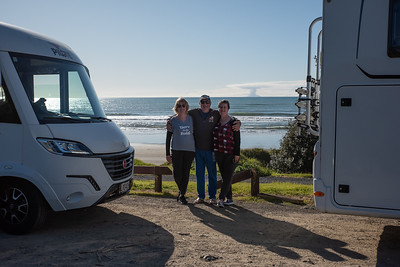 Clive, Anne and Nyree, East Cape, New Zealand