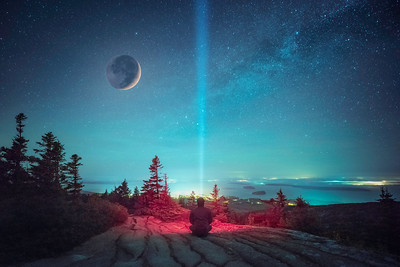 Aurora lights at Acadia.