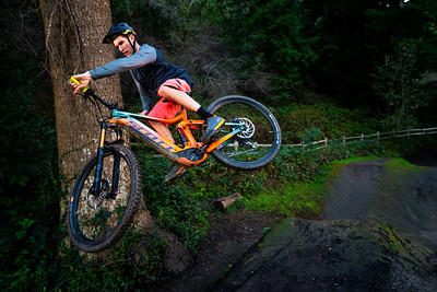 Paul Basagoitia jumping at the local bike park that evening.