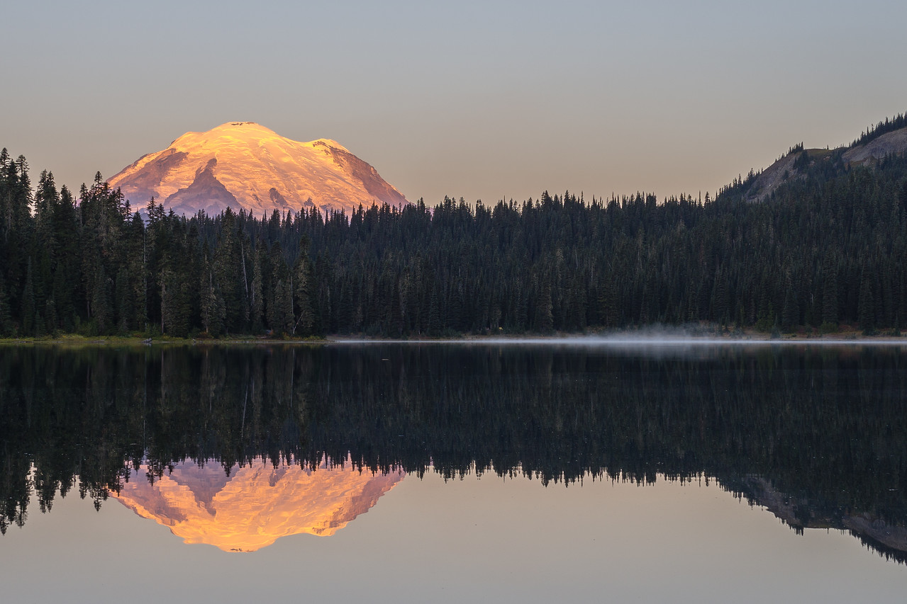 Sun-kissed Rainier