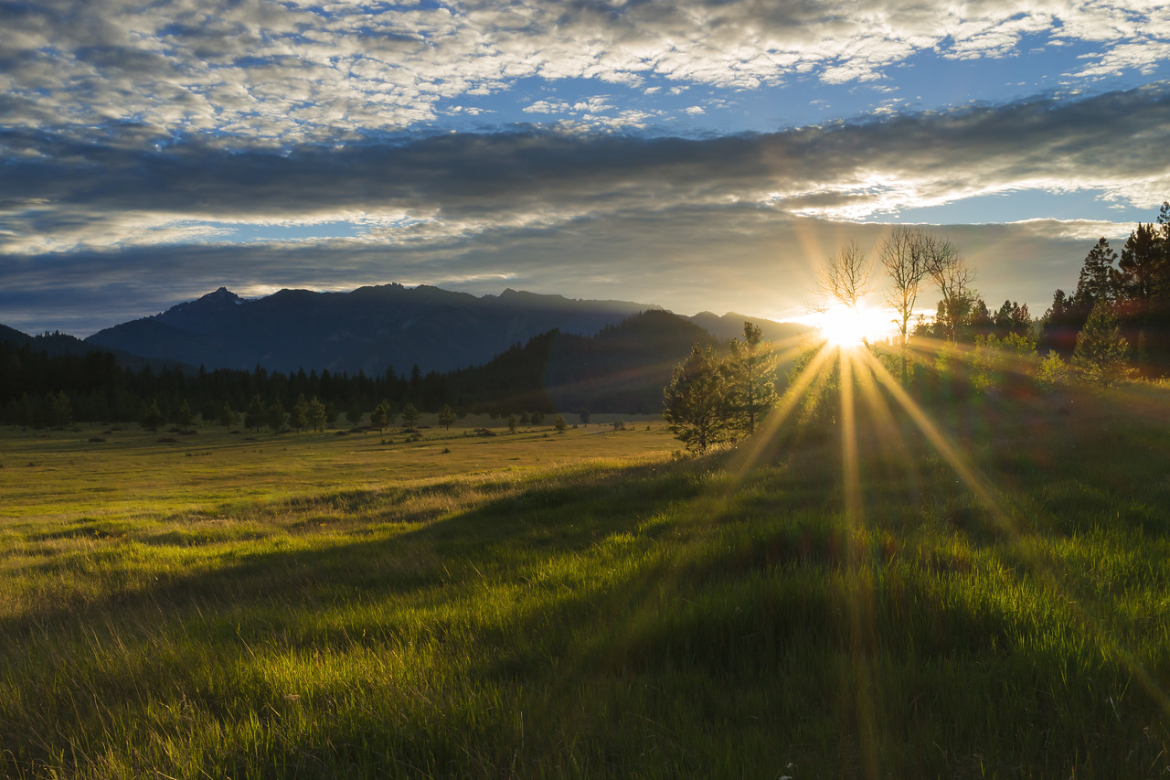 Camas Meadow sunset