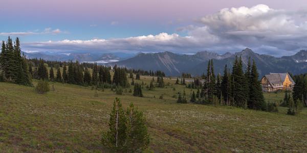 Purple Skies at Mount Rainier