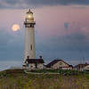 Moonset at Pigeon Point Lighthouse