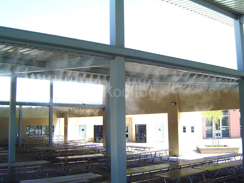 School Lunch Area Misted