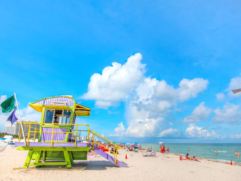 12th Street Lifeguard Station, South Beach, Miami.