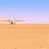 MedAvia CASA C-212 Landing in Libyan Desert (1990) 1