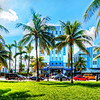 Heathcote Apartments, Park Central Hotel and Imperial Hotel, Ocean Drive, South Beach, Miami.