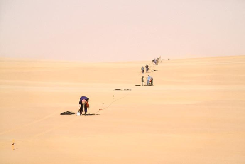 Line Crew in the Calasncio Sand Sea 1