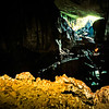 Another look back to the entrance of Clearwater Cave from deeper inside. Mulu, 1989.