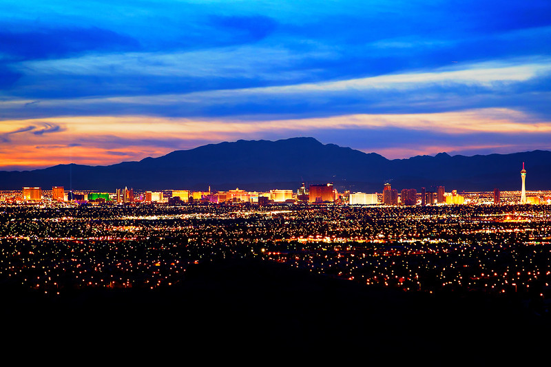 Las Vegas viewed from Sunrise Mountain Natural Area, Route 147