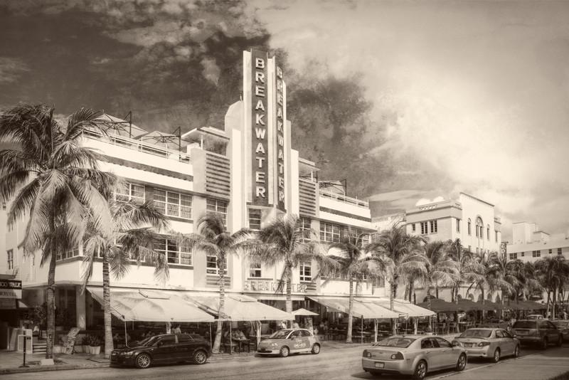 The Breakwater Hotel, Ocean Drive, South Beach, Miami, FL.
