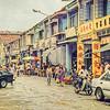 Street scene, Georgetown, Penang, Malaysia.