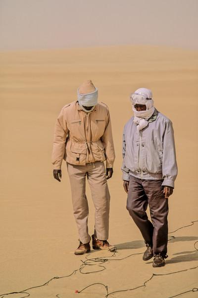 Line Crew in the Calasncio Sand Sea 2