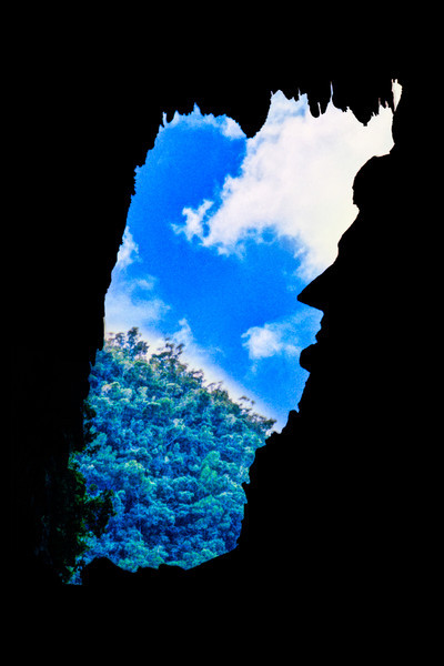 As you near the exit of Deer Cave in Gunung Mulu National Part you get this view that looks like Abraham Lincoln's profile. It's an entirely natural rock formation that only looks like this from the one angle.