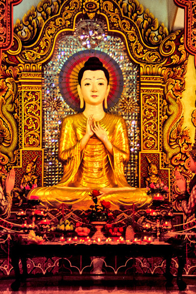 Buddha in a Penang Temple