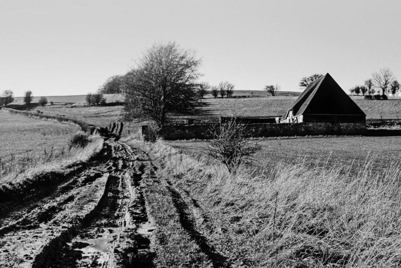 Old Barn BW