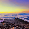 South from the summit of Mount Kinabalu