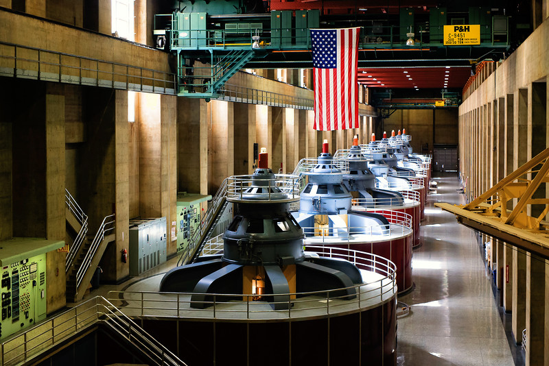Generator room, Nevada side of Hoover Dam