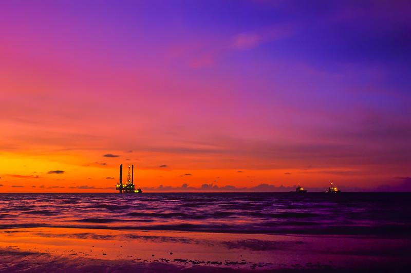 Brunei Jackup at Sunset
