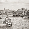 West from Tower Bridge BW