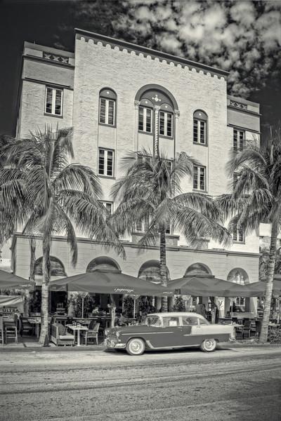 Oceans Ten Restaurant on Ocean Drive at 10th Street, Ocean Drive, South Beach, Miami. Florida