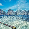 Foam sprays in the wake of the ferry heading back to Phuket from Koh Phi Phi Don.