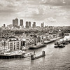 East from Tower Bridge BW