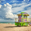 Miami Beach is dotted with these wonderful Lifeguard stations, each one individually designed and decorated,