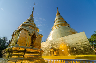 Golden Chedi at Wat Phra Singh in Chiang Maï (Thaïland)