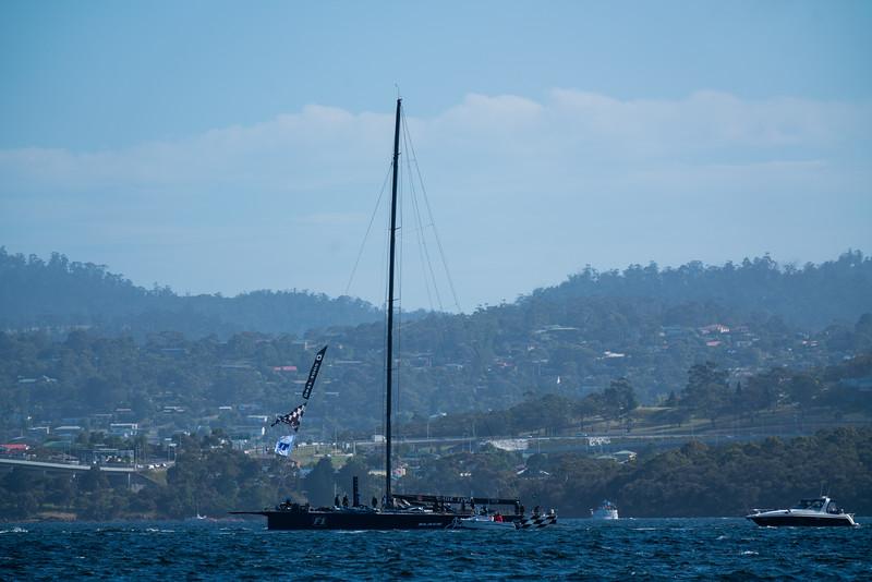 Black Jack heads to port.