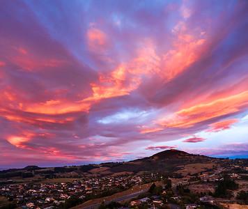 Sunrise Over Saddle Hill Dunedin NewZealand
