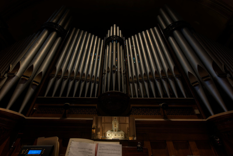 St. Mary's (Yonkers) Organ With Reflected View of Altar