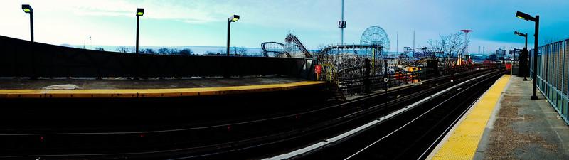 Coney Island Subway Panorama