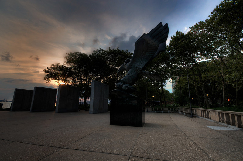 World War Two East Coast memorial Eagle