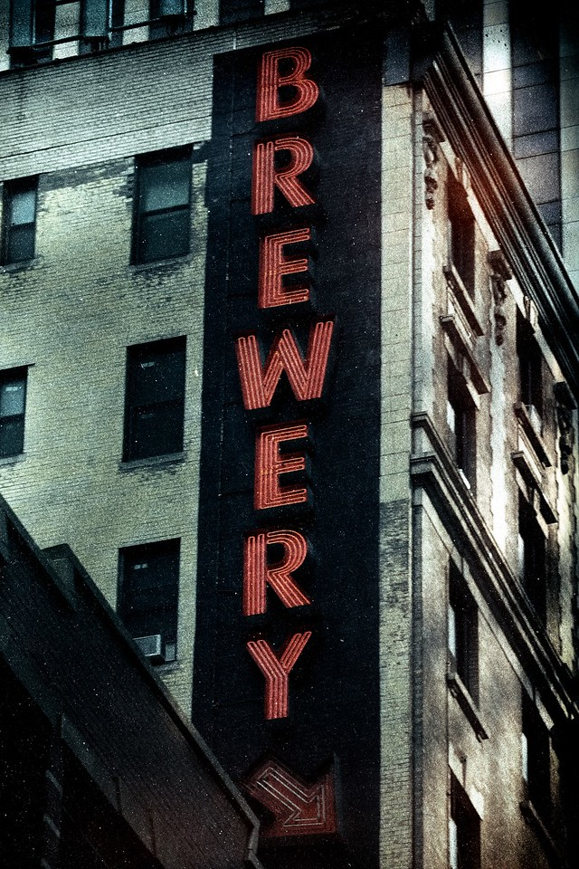 Heartland Brewery Neon Sign, Times Square