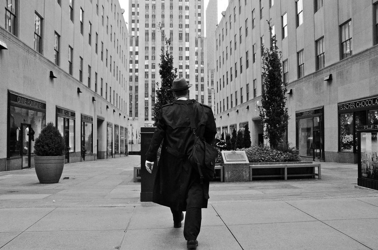 The Grey Man In Rockefeller Center
