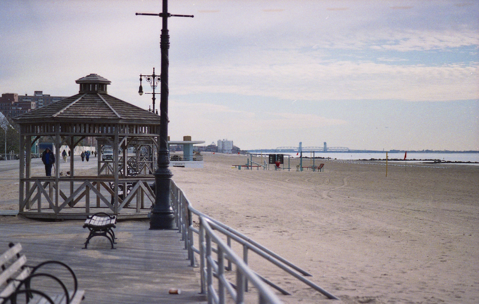 Coney Island Winter Beach and Boardwalk