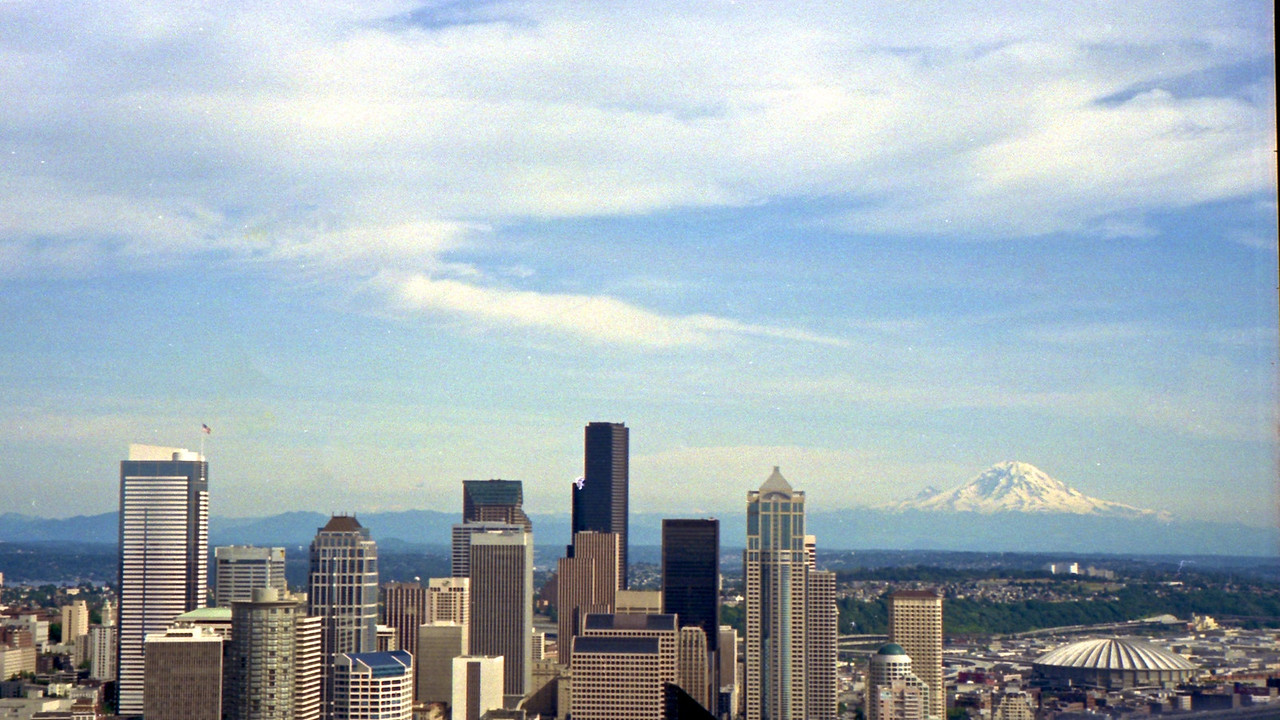 Mount Rainier and Seatt;e Skyline