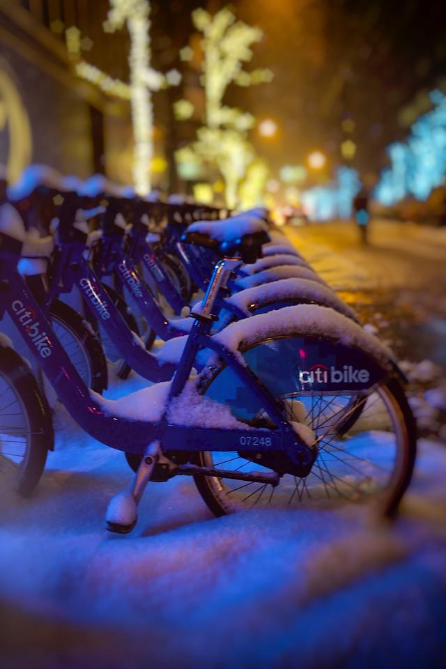 Citibikes In Snow