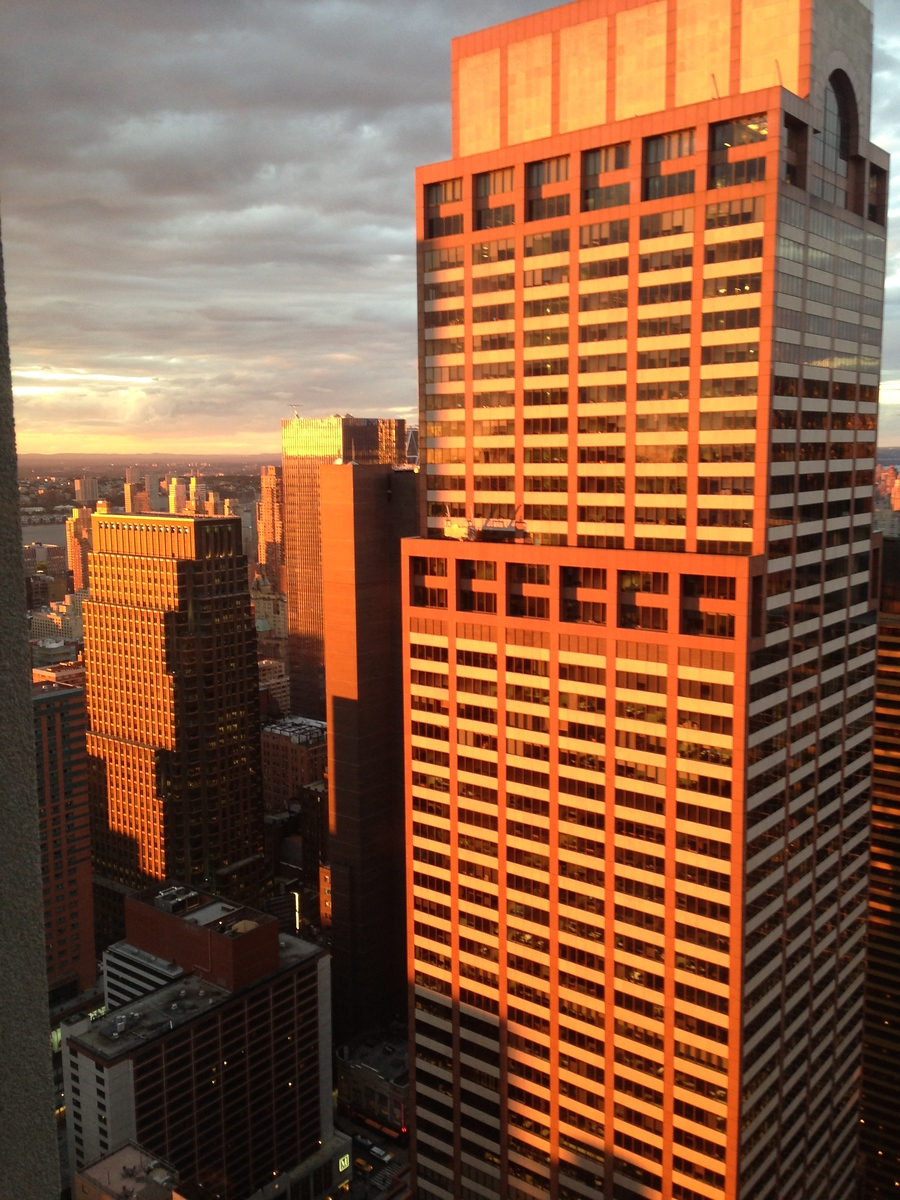 NYC Office View Late Summer Dusk