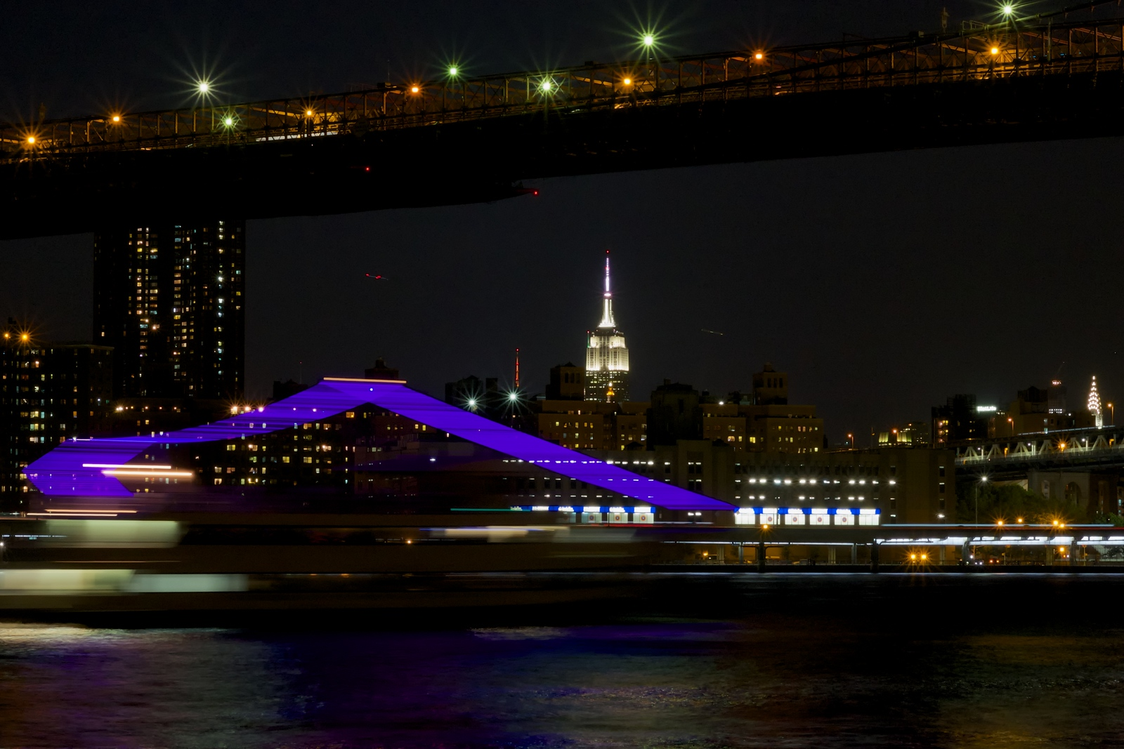 Party Boat, Empire State, Night