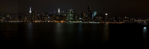 Manhattan Night Skyline