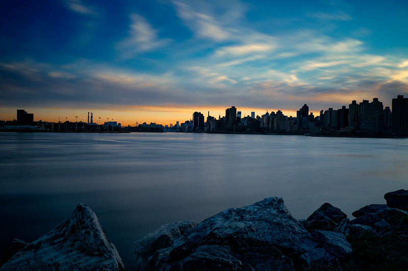 East River Dusk From Randall's Island (Processed RAW)