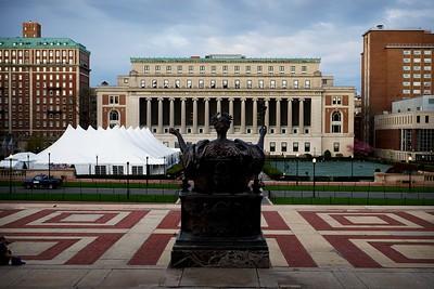 Columbia University Butler Library, College Walk, Alma Mater